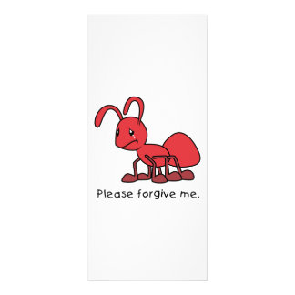 Please Forgive Me Crying Weeping Red Ant Card Customized Rack Card