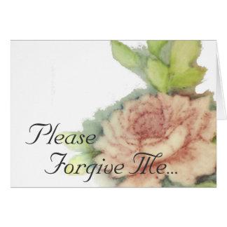 Please Forgive Me...-Customize Card
