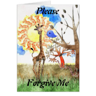 Please Forgive Me - Olympia and Blue Bird - Sorry Card