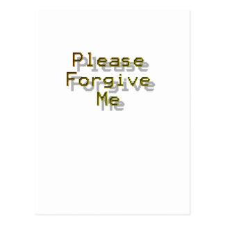 Please Forgive me Postcard