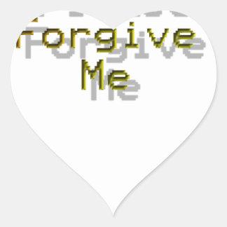 Please Forgive me Heart Sticker