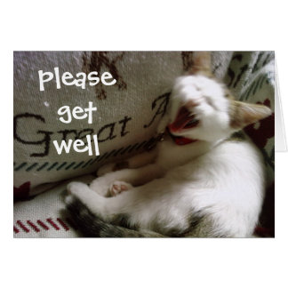 PLEASE GET WELL SOON, QUICK, NOW CARD