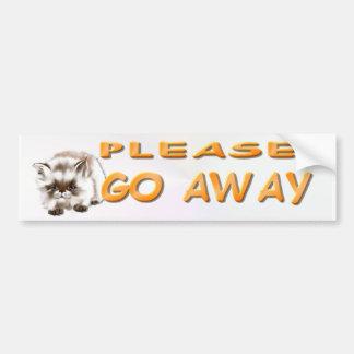 Please Go Away Bumper Sticker