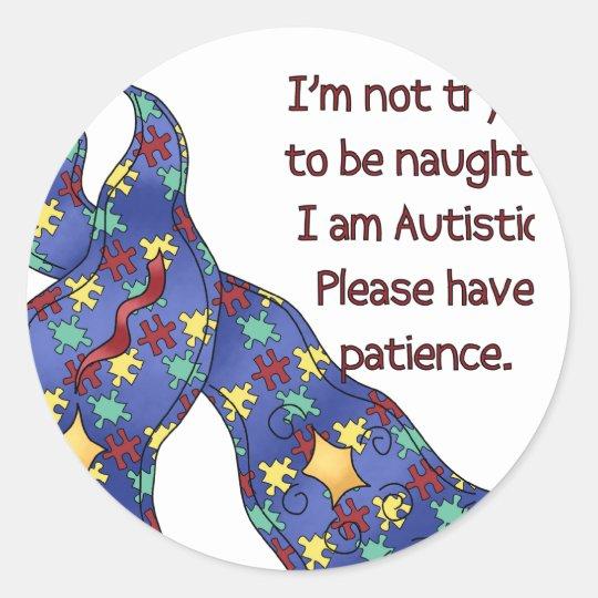 Please Have Patience Autism Awareness Sticker