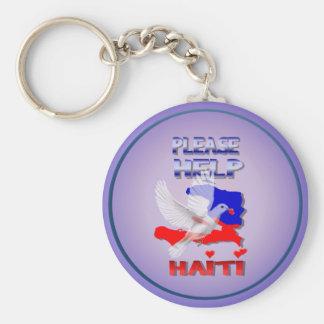 Please Help Haiti Keychain