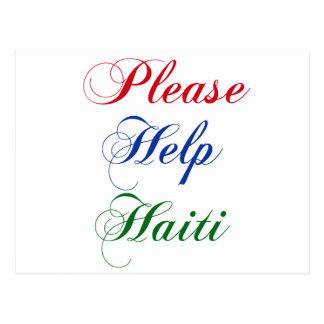 Please Help Haiti Postcard