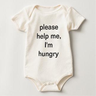 please help me, I'm hungry Bodysuits