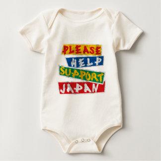 Please Help Support Japan Baby Bodysuit