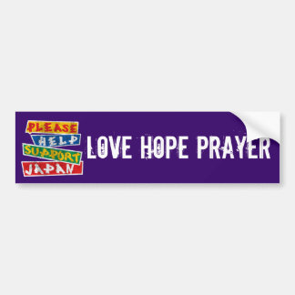 Please Help Support Japan Bumper Sticker