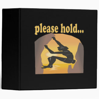 Please Hold 3 Ring Binder