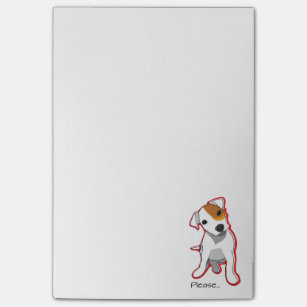 """""""Please"""" Jack Russell Terrier Postit Notes"""