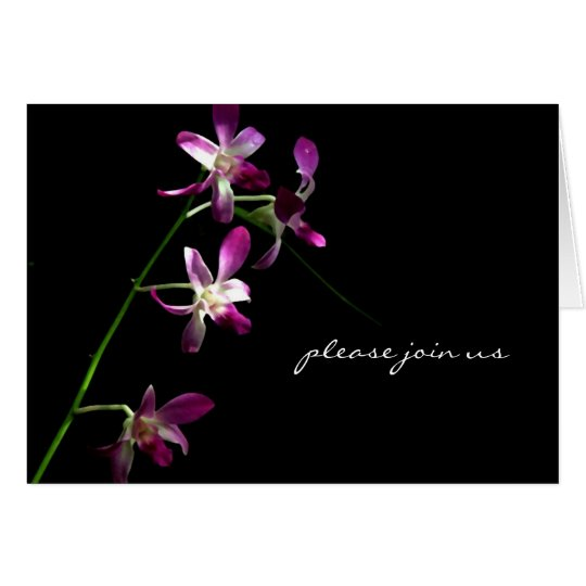 Please Join Us ~An Invitation ~ Orchid Art Card