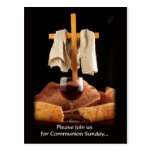 """""""Please Join Us for Communion Sunday"""" postcard"""