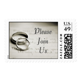 Please Join Us Silver Wedding Rings Postage