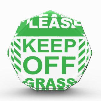 Please Keep off the Grass Sign Acrylic Award