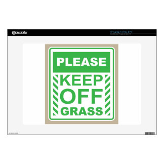 Please Keep off the Grass Sign Decals For Laptops