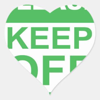 Please Keep off the Grass Sign Heart Sticker