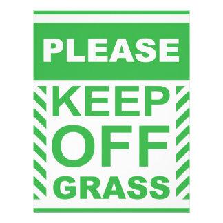 Please Keep off the Grass Sign Letterhead