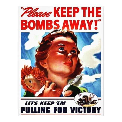 "Please Keep The Bombs Away 8.5"" X 11"" Flyer"
