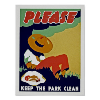 Please Keep The Park Clean Poster
