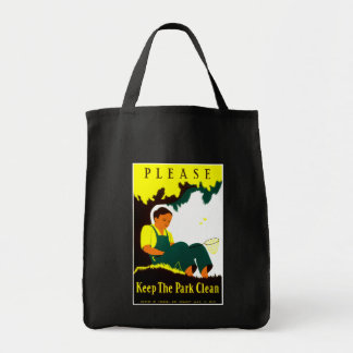 Please Keep the Park Clean Tote Bag