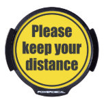 """please Keep Your Distance"" Traffic Warning Sign, Led Window Decal at Zazzle"