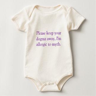 Please keep your dogma away, I'm allergic to myth. Baby Bodysuit