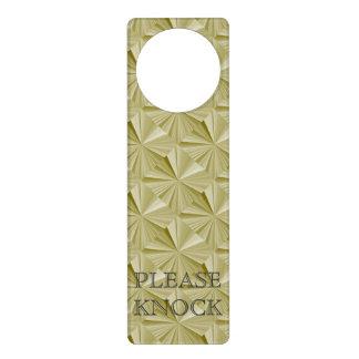 Please Knock Gold Door Hanger