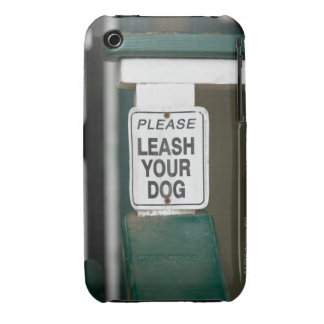 Please leash your dog sign Case-Mate iPhone 3 cases