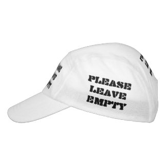 PLEASE LEAVE EMPTY HAT