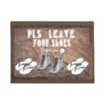 Please leave you shoes - Asian custom Doormat