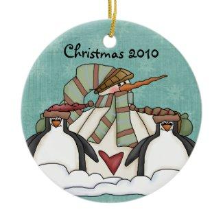 Please Let it Snow  Snowman Keepsake Ornament ornament