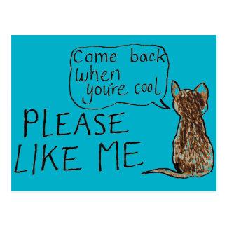 Please Like Me Cat Postcard