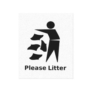 Please Litter Canvas Print