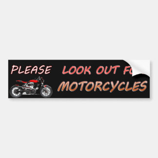 Look For Motorcycles Stickers Zazzle - Custom motorcycle bumper stickers awareness