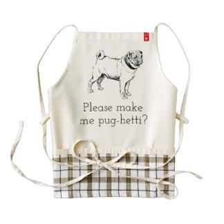 Please make Pug-hetti? cute Pug pun apron