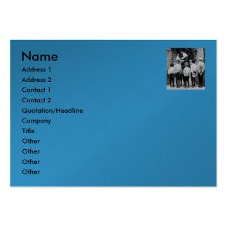Please Mum!  (Cyan) Business Card Template