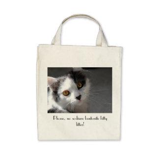 Please no sodium bentonite kitty litter tote bag