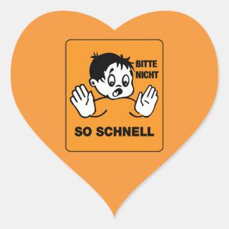 Please Not so Fast, Traffic Signs Austria Heart Sticker