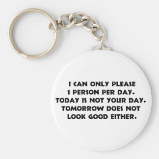 Please Only 1 Person 2 Keychain