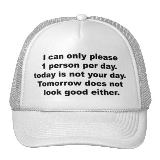 Please Only 1 Person Hat