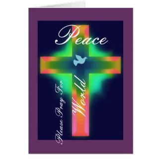 Please Pray for World Peace Card