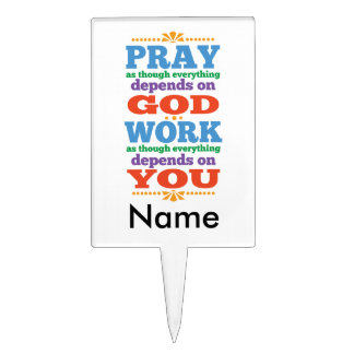 Please Pray to God Cake Toppers