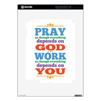 Please Pray to God iPad 2 Decal