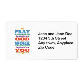 Please Pray to God Label