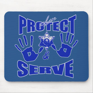 Please protect and serve 2 mouse pad