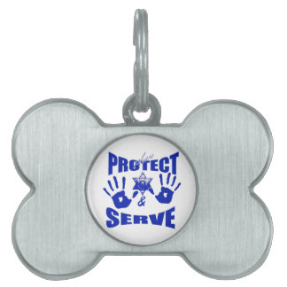 Please protect and serve 2 pet name tag