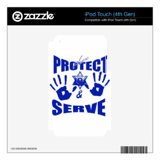 Please protect and serve 2 iPod touch 4G skins