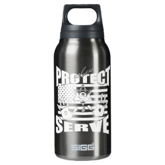 Please Protect And Serve Insulated Water Bottle