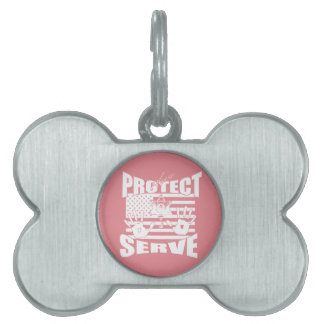 Please Protect And Serve Pet Name Tag